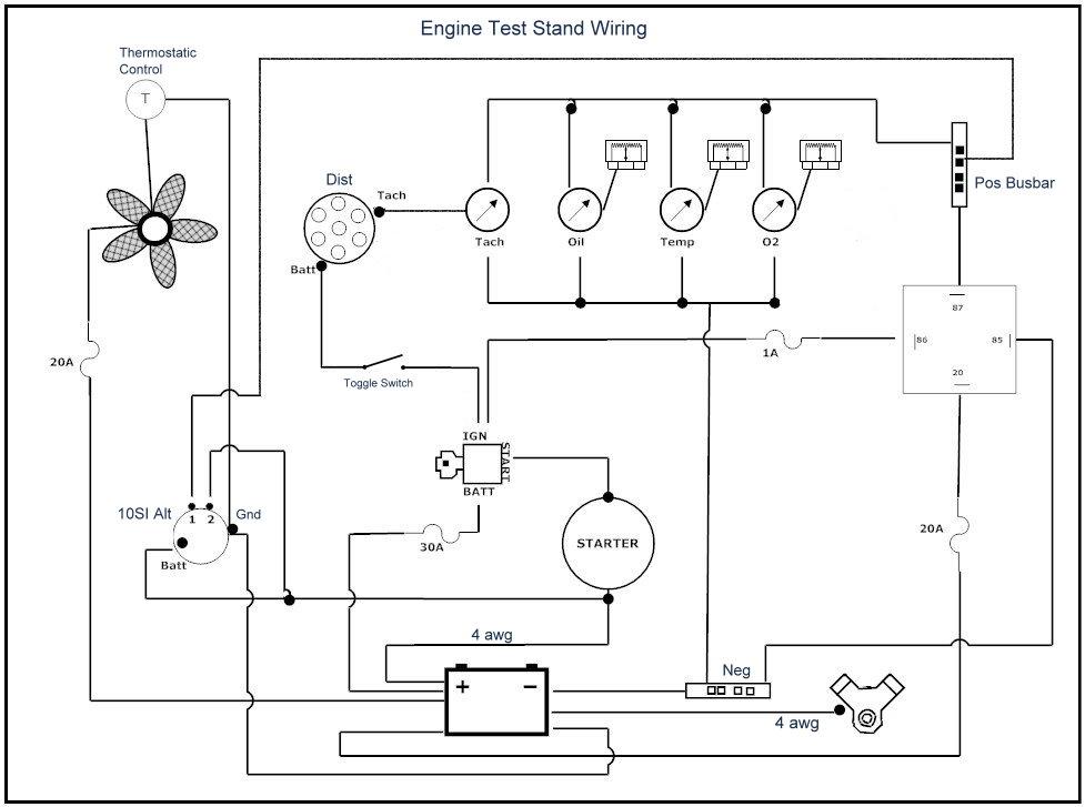 Engine Test Stand Wiring Schematic