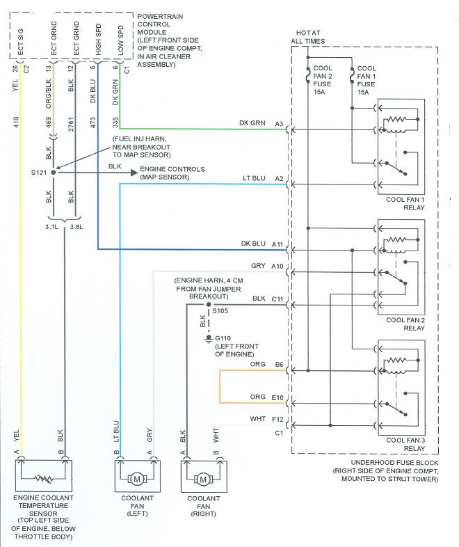 BuickCoolFan buick cooling fan wiring diagram buick wiring diagrams collection  at fashall.co