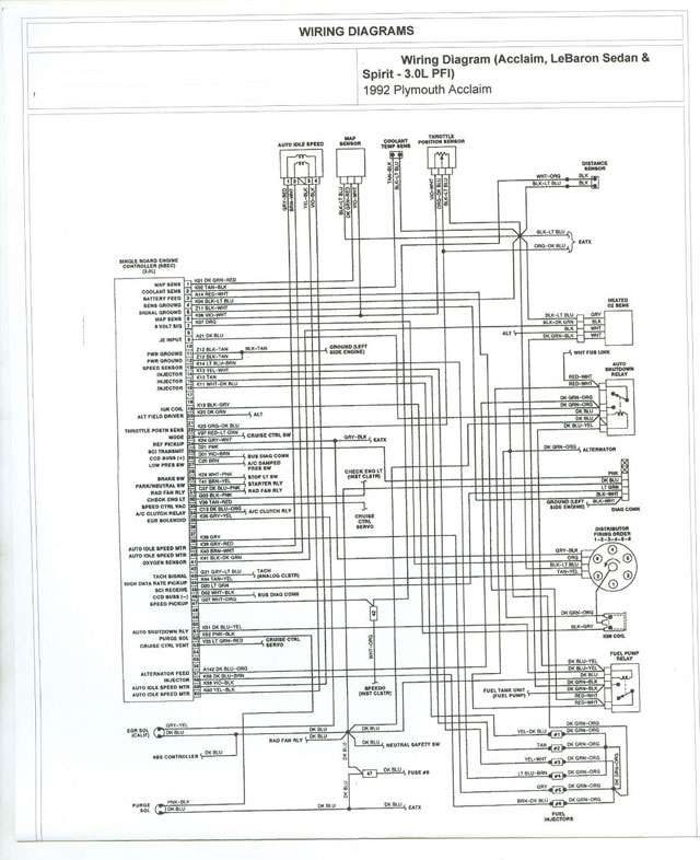 [WLLP_2054]   map sensor 93 plymouth acclaim - Engine Troubleshooting | 1992 Plymouth Acclaim Wiring Diagram |  | Carjunky Forum