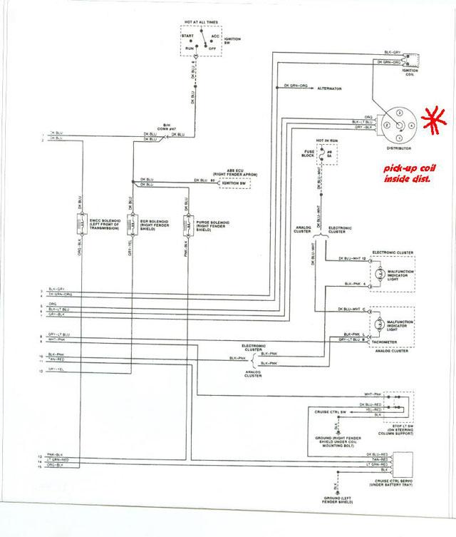 Map Sensor 93 Plymouth Acclaim